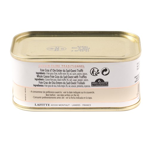 Lafitte Whole Goose Foie Gras with Truffle, 200g