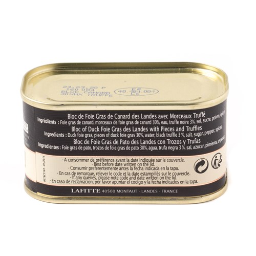 Lafitte Whole Duck Foie Gras with Truffle, 130g
