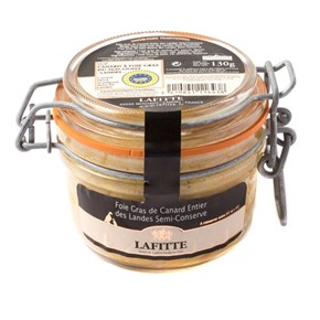 Lafitte Whole Duck Foie Gras Mi Cuit, 130g