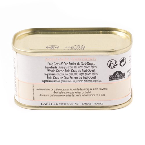 Lafitte Whole Goose Foie Gras, 130g
